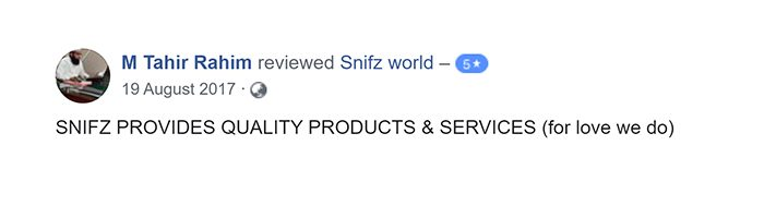 M Tahir Customer Reviews for snifz