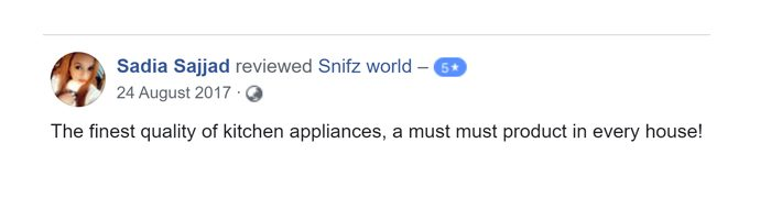 Sadia Sajid Customer Reviews for snifz