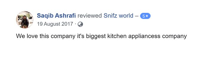 Saqib Ashrafi Customer Reviews for snifz