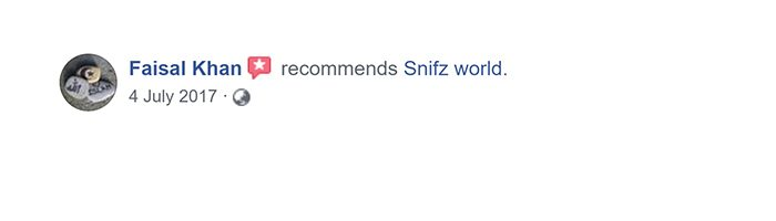 faisal khan Customer Reviews for snifz